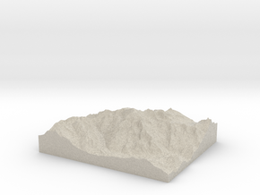 Model of Mont Blanc in Natural Sandstone