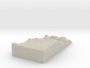 Model of Moran Point in Natural Sandstone