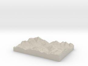 Model of Andermatt in Natural Sandstone
