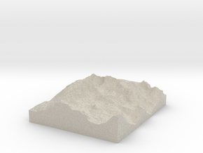 Model of Whitney Portal in Natural Sandstone