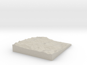 Model of Park City in Natural Sandstone