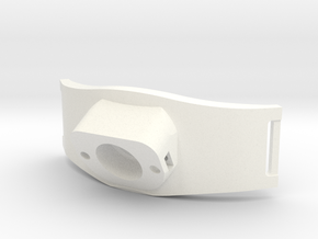 Bracelet Debitmetre V2b in White Strong & Flexible Polished
