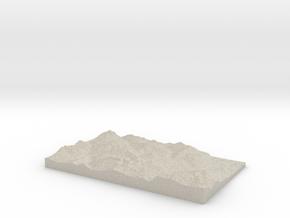 Model of Pré la Joux in Natural Sandstone