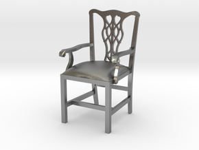 "Cambridge Councill Arm Chair 3"" tall in Natural Silver"