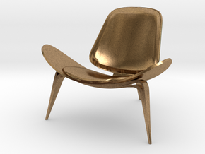 "Steelcase Shell Chair 2.8"" tall in Natural Brass"
