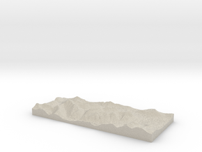 Model of Stob Coire Raineach in Natural Sandstone