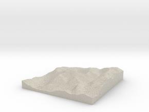 Model of Fort William in Natural Sandstone