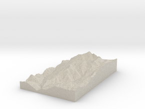 Model of Saint Sauveur sur Tinée in Natural Sandstone
