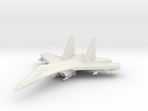 1/285 Scale (6mm) SU-27 Flanker w/Ordnance in White Natural Versatile Plastic