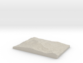 Model of Mammoth Lakes in Natural Sandstone
