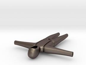 Bodysuite Little in Polished Bronzed Silver Steel