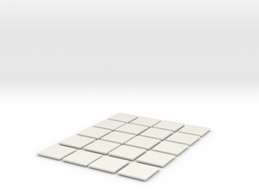 Mesh Tile Starter Pack in White Natural Versatile Plastic