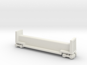 "7.5"" Passenger Riding Car W/Trucks - HO Scale (1/8 in White Strong & Flexible"