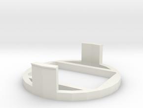 PiDOF Adapter holder (Nikon ext tube int dia 54mm) in White Natural Versatile Plastic