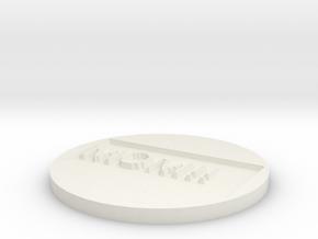 by kelecrea, engraved: MOM!! in White Natural Versatile Plastic