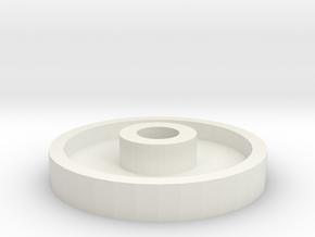Dishwasher-wheel in White Natural Versatile Plastic
