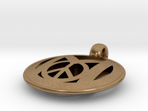 Millennial Peace Pendant (does not include cord) in Natural Brass