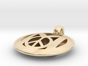 Millennial Peace Pendant (does not include cord) in 14K Yellow Gold