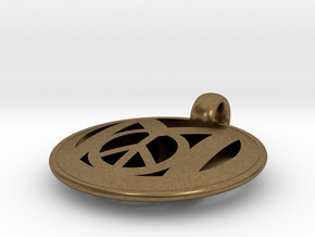 Millennial Peace Pendant (does not include cord) in Natural Bronze