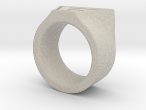 Dr Evil Ring Size 11 in Natural Sandstone