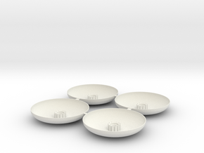 Landing Pad-4 in White Natural Versatile Plastic