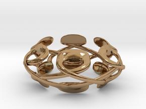 Pad Podz Ring in Polished Brass