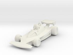 Ferrari 312T2 HO scale in White Natural Versatile Plastic