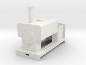 Gn15 box tank loco  in White Natural Versatile Plastic