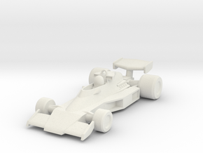 McLaren M23 HO scale in White Natural Versatile Plastic