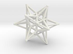 Dodeca Star Wire - 4cm in White Natural Versatile Plastic