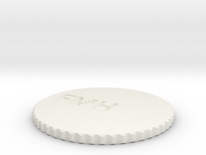 by kelecrea, engraved: FMH in White Natural Versatile Plastic