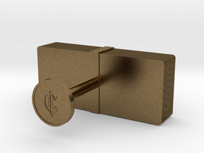 Money Cufflink in Natural Bronze
