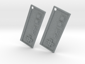 Nes Earrings in Polished Metallic Plastic
