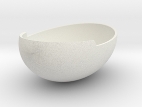 Crunchy Bowl in White Natural Versatile Plastic