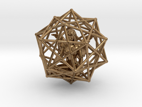 Solar Angel Starship: Sacred Geometry Dodecahedral in Natural Brass