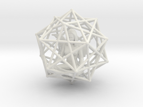 Solar Angel Starship: Sacred Geometry Dodecahedral in White Natural Versatile Plastic