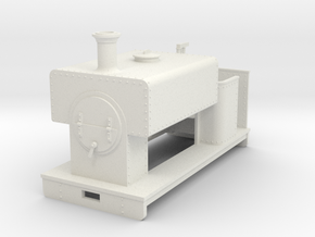1:32/1:35 square saddle tank loco open cab in White Strong & Flexible