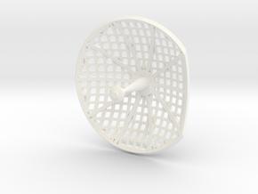 Apollo SM HGA Dish 1:10 in White Strong & Flexible Polished