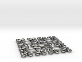 Fractal Celtic knot pendant in Fine Detail Polished Silver