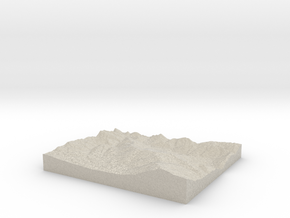 Model of Bear Valley in Natural Sandstone