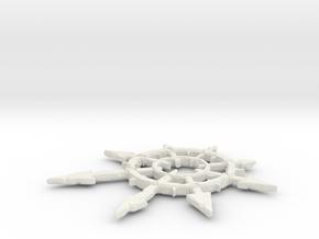 Chaos Pendant Large in White Natural Versatile Plastic