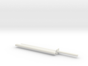 Katana 1:6 scale in White Natural Versatile Plastic