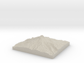 Model of Mount Hood in Natural Sandstone
