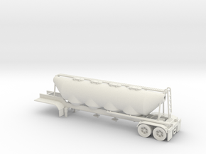 HO 1/87 Dry Bulk Trailer 02 in White Strong & Flexible