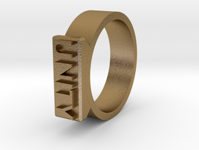 Unity Ring Size 11  in Polished Gold Steel