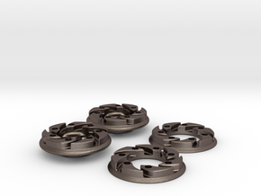 VEX Mecanum Wheel Adapters for FTC in Polished Bronzed Silver Steel