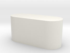 Foot Base in White Natural Versatile Plastic