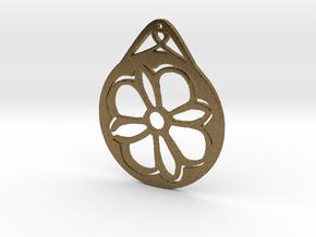 Hanging Ornament ~ Medieval Tile Design  in Natural Bronze