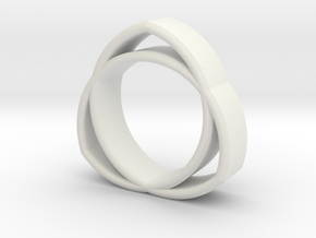 The Trinity Ring in White Natural Versatile Plastic