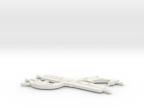 Orca - Wolf Of The Sea V 1 Pendant in White Natural Versatile Plastic